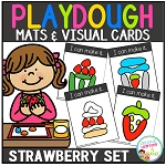 Playdough Mats & Visual Cards: Strawberry Time ~Digital Download~